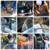 Collage del trabajo duro Imagen de archivo libre de regalías