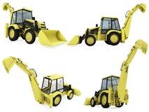 Collage del vehículo aislado de la construcción Imagen de archivo libre de regalías