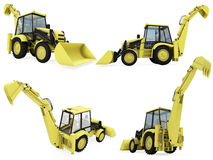 Collage del veicolo isolato della costruzione Immagine Stock Libera da Diritti