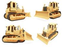 Collage del veicolo isolato della costruzione Fotografia Stock Libera da Diritti