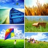 Collage del verano Imagen de archivo libre de regalías