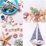 Collage del verano imagenes de archivo