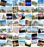 Collage del viaje Imagen de archivo libre de regalías