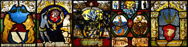 Collage del vidrio manchado de la vendimia Foto de archivo