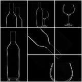 Collage del vino Immagini Stock