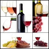 Collage del vino fotografía de archivo