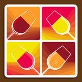 Collage del vino que muestra diversas variedades Imagen de archivo