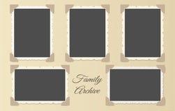 Collage dell'album di foto della famiglia illustrazione vettoriale
