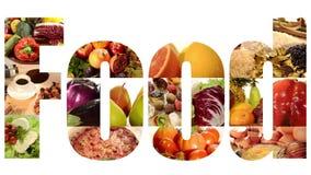 Collage dell'alimento archivi video