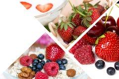 Collage dell'alimento delle bacche Fotografie Stock