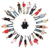 Collage dell'anello della gente Fotografia Stock Libera da Diritti