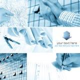 Collage dell'architetto immagine stock libera da diritti