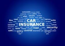 Collage dell'assicurazione auto immagini stock