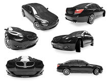 Collage dell'automobile isolata Immagine Stock Libera da Diritti