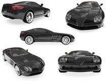 Collage dell'automobile isolata Immagini Stock Libere da Diritti