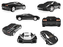 Collage dell'automobile suprema isolata illustrazione di stock