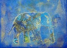 Collage dell'elefante Fotografia Stock