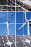 Collage dell'energia pulita Fotografia Stock Libera da Diritti