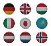 Collage dell'hockey del mondo (dal G a N) Immagini Stock Libere da Diritti