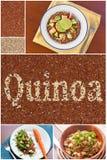 Collage dell'insalata della quinoa Fotografie Stock Libere da Diritti