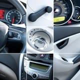 Collage dell'interiore dell'automobile Fotografia Stock Libera da Diritti