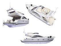 Collage dell'yacht isolato royalty illustrazione gratis