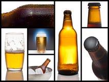 Collage della birra Immagini Stock