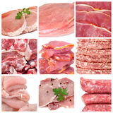 Collage della carne Immagini Stock Libere da Diritti
