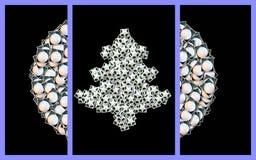 Collage della cartolina di Natale Fotografie Stock