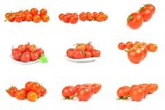 Collage della ciliegia su bianco Immagini Stock