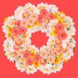 Collage della corona del fiore fotografia stock libera da diritti