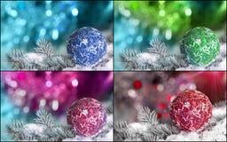 Collage della decorazione di Natale Fotografie Stock Libere da Diritti