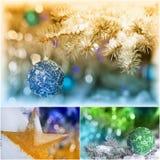 Collage della decorazione di Natale Immagine Stock Libera da Diritti