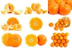 Collage della foto dei mandarini Immagini Stock