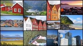 Collage della foto della Norvegia Immagine Stock