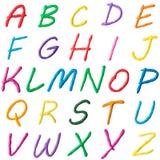 Collage della foto delle lettere dell'alfabeto royalty illustrazione gratis