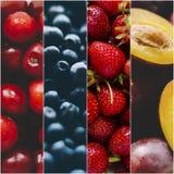 Collage della foto di frutti Fotografia Stock
