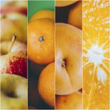 Collage della foto di frutti Fotografia Stock Libera da Diritti