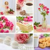 Collage della foto di giorno del ` s del biglietto di S. Valentino Fotografia Stock