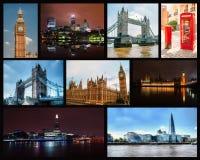 Collage della foto di Londra Fotografia Stock