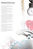 Collage della foto di servizi medici immagini stock