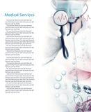 Collage della foto di servizi medici immagine stock libera da diritti