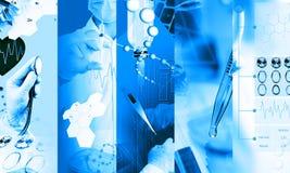 Collage della foto di servizi medici fotografia stock libera da diritti