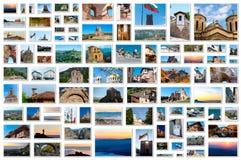 Collage della foto - griglia delle immagini dalla Bulgaria Immagini Stock