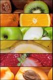 Collage della frutta Immagini Stock Libere da Diritti
