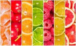 Collage della frutta fresca di estate Fotografia Stock Libera da Diritti