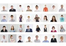 Collage della gente Immagine Stock