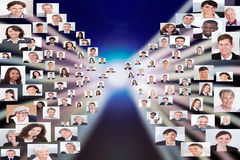 Collage della gente di affari fotografia stock libera da diritti