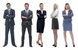Collage della gente di affari su fondo bianco fotografia stock libera da diritti