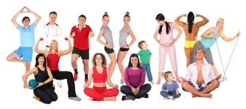 Collage della gente di sport fotografie stock libere da diritti